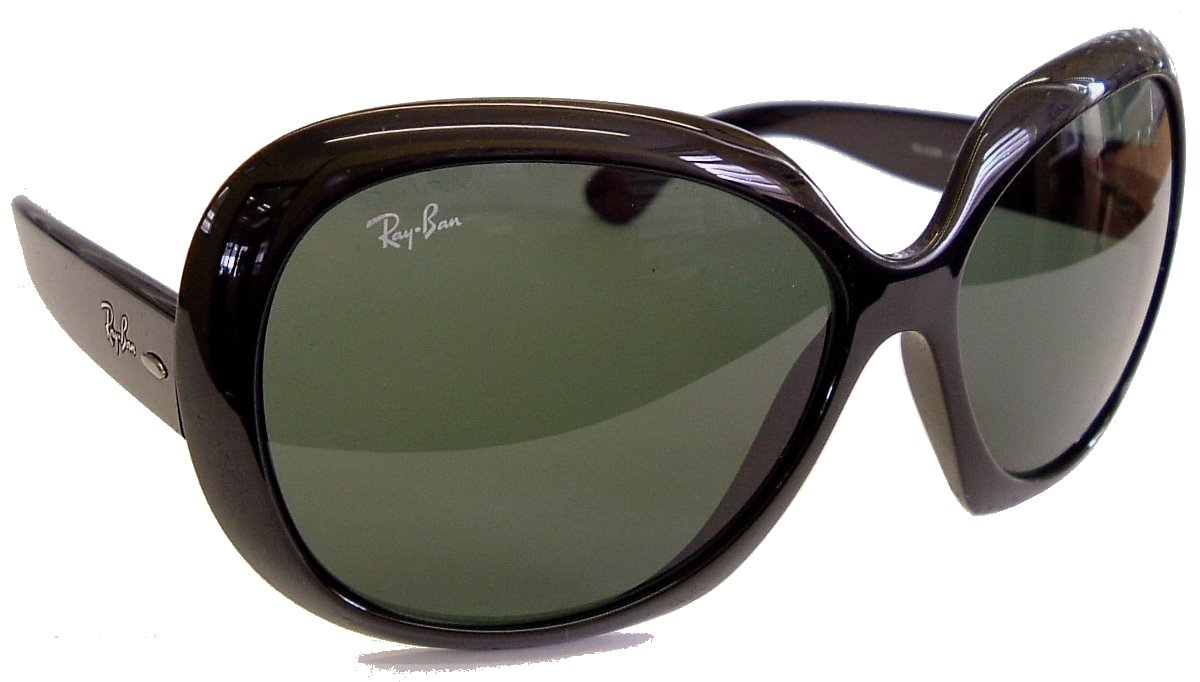 Ray Ban Highstreet Jackie OHH ll Sunglasses Model 4098 Black Frame with G15 Gray-Green lenses