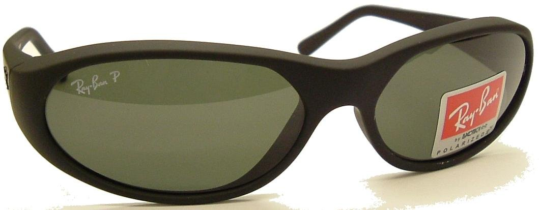 RayBan Daddy O Oval Wrap 2015 Black Sunglasses POLARIZED Safety Glass Lens with Rear A/R Coating