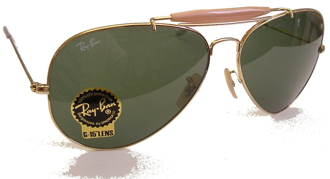 Ray Ban 'Outdoorsman II' Sunglasses Model 3029,Gold Frame G15 Safety Glass Lens