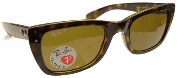 Ray Ban 'Caribbean' Polarized Sunglasses,Model 4148 Havana Frame,Brown Polarized Lenses