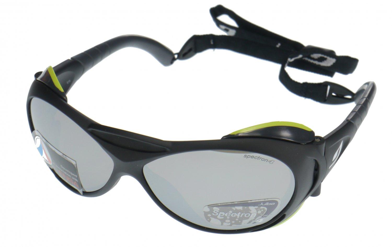 Julbo Explorer Sunglasses, Matt Black, Polycarb Mirror + A/R Coated Category 4 Lens - Medium Fit