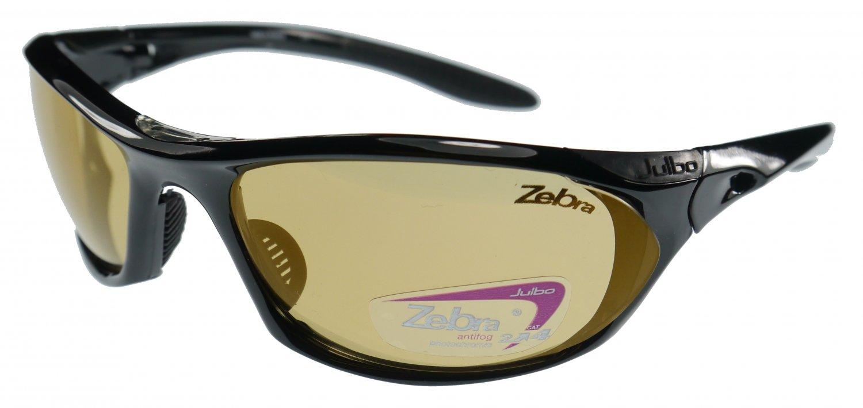 Julbo Race Black Sunglasses, Zebra Anti-Fog + Hydrophobic Coated Photochromic Lens