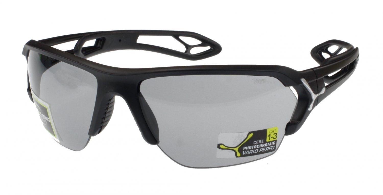Cébé S'Track Lightweight Sunglass, Matt Black, Photochromic Anti-Fog Lens, Large Fit