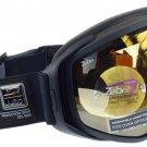 Julbo Titan Ski Goggle OTG Fits Over Glasses Matt Black, Zebra Photochromic Spherical Double Lens