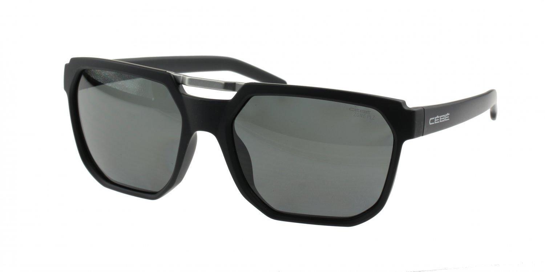 Cébé Iron CBS145 Matt Black Sunglasses, Polarized Grey Lenses