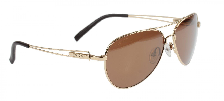Serengeti Brando 8456 Bold Gold Sunglasses Drivers Gold Polarized Photochromic Lenses