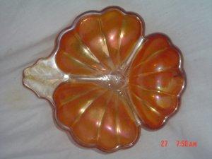 Carvnival Glass 3 leaf Clover Dishes