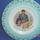President & Mrs John F Kennedy Plate