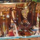Indiana Carnival Glass Harvest Pitcher Set
