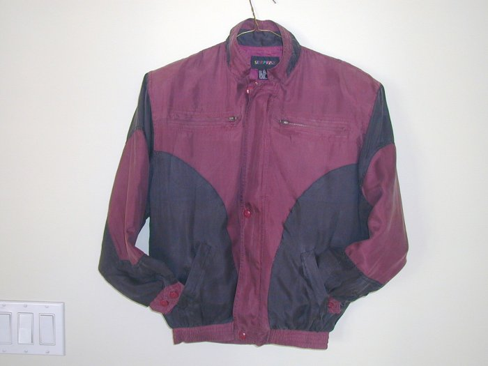 Boy's Burgundy Silk Jackets (M, Item#502)