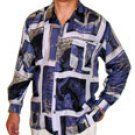 Men's Printed 100% Silk Shirt (Large, Item# 101)