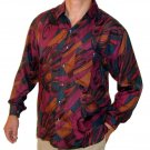 Men's Printed 100% Silk Shirt (Medium, Item# 108)
