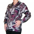 Women's Pattern 100% Silk Blouse (L, Item# 112)