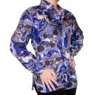 Women's Pattern 100% Silk Blouse (L, Item# 110)