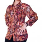 Women's Pattern 100% Silk Blouse (L, Item# 106)