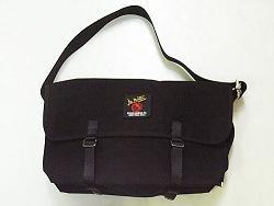 Canvas Messenger Bag 3601U - Medium Black