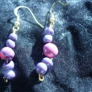 pink and purple polymer earrings