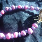 pink and purple polymer bracelet