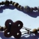 natural wooden anklet