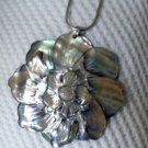 mother of pearl flower necklace.
