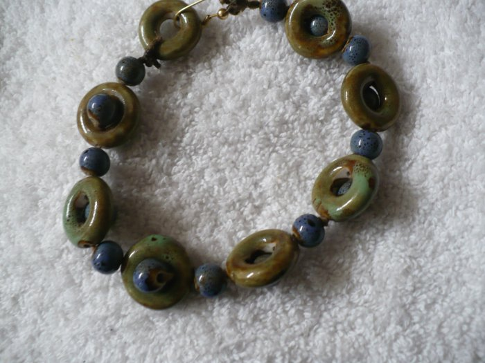 blue and green stone bracelet