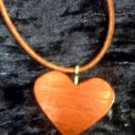 wooden heart necklace