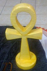 small free standing wooden ankh