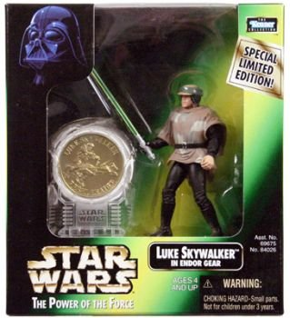 POTF2 Millennium Minted Coin Luke in Endor Gear