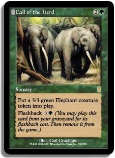 MTG Odyssey Call of the Herd FOIL