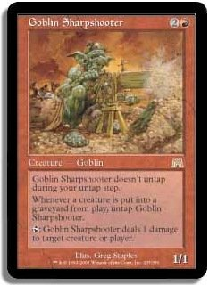 MTG Onslaught Goblin Sharpshooter FOIL