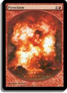 MTG DCI Pyroclasm Textless