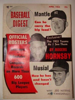 Baseball Digest April 1953