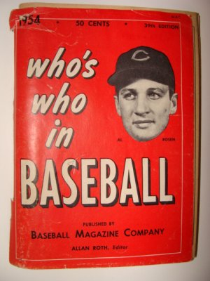 Who's Who In Baseball 1954