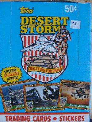 Topps Desert Storm Sealed Box (Blue)