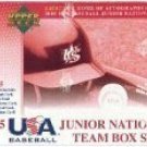2005 Upper Deck Junior National Team Box Set