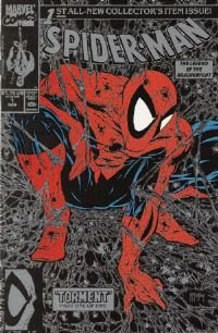 Spider-Man #1 Silver Edition-Todd McFarlane Near Mint!