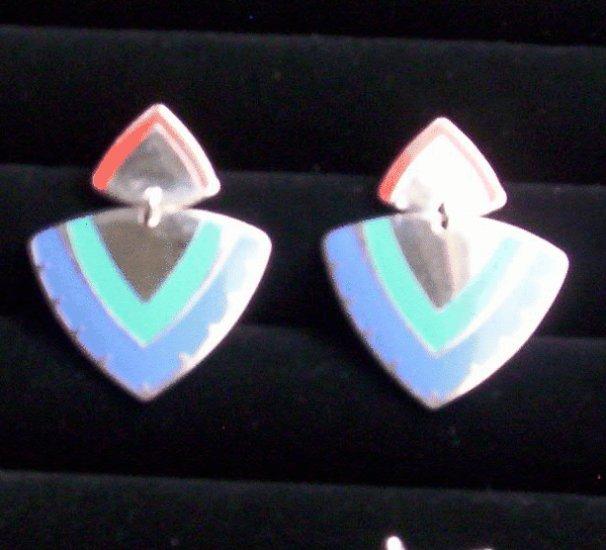 """Laurel Burch """"Renata""""  Pierced Earrings"""