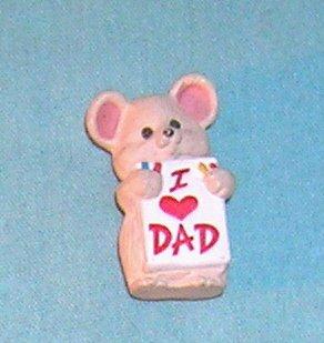 1991 Hallmark Merry Miniature I Love Dad Mouse