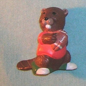 1991 Hallmark Merry Miniature Football Beaver