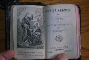 1920s Vintage Prayerbook Key of Heaven