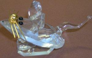 Cute Little Cut Crystal Mouse Figurine - Rainbow Crystal Slovakia