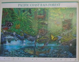 Full Sheet Pacific Coast Rain Forest stamps