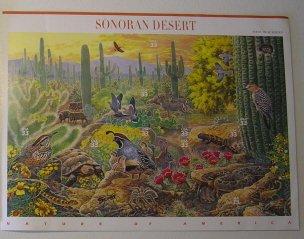 Full Sheet Sonoran Desert stamps