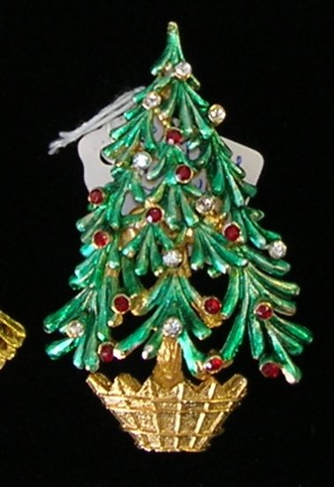 MYLU Christmas Tree Rhinestone  Brooch / Pin