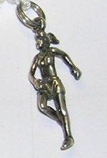 Female Runner or Jogger  Sterling Charm