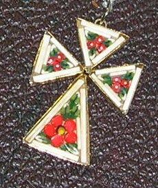 Micro Mosaic Cross Pendant