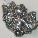 Sterling Art Nouveau Fairy Brooch / Pin