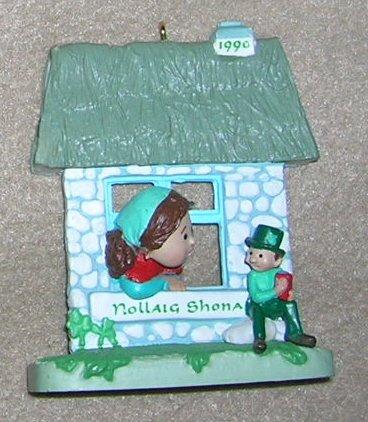 1990 Windows of the World # 6  Nollaig Shona Harllmark Ornament