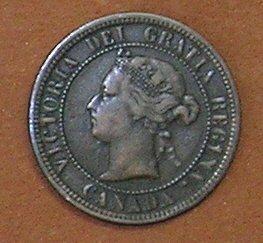 1876H Canadian Cent