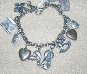 Charm Bracelet with 11 Charms